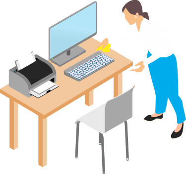 Cleaning Computer Desk